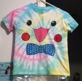 Boy or Girl Clothing NEW Pokemon Pikachu Tie Dye Tee Shirt with a Bow Tie in Cary, North Carolina