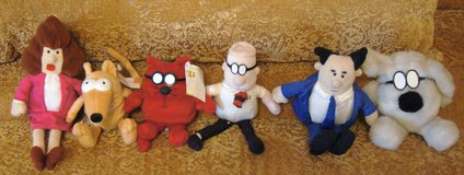 6 DILBERT & GANG DOLLS DESK-TOP COLLECTIBLES in Lakenheath, UK