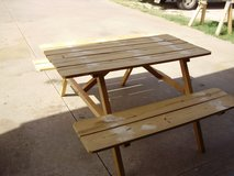 Small Kids Picnic Table and Adult Picnic Table, text me at (580)695-8183, if you need one in Lawton, Oklahoma
