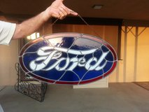 STAINED GLASS FORD SIGN in Yucca Valley, California