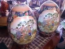 Oriental Eggs On Stand Set Of 2 in Clarksville, Tennessee