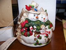 Snowman Candle Topper **REDUCED** in Palatine, Illinois