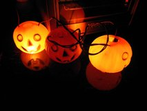 Vintage Plastic Pumpkin's Light up and Blink in Glendale Heights, Illinois