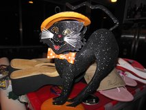 Department 56 Retired Black Cat Tea light holder/candle holder in Palatine, Illinois