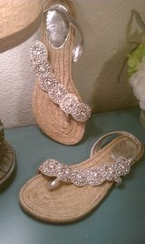 Naughty Monkey Jeweled Sandals Sz 8.5 women's shoes in Fort Hood, Texas