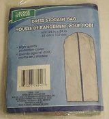 "Brand New ~ the home store DRESS storage bag plastic zippered garment bag 24"" x 54"" new! in Morris, Illinois"