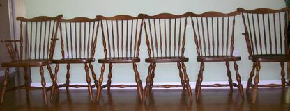 (6) 1940's Harden Windsor Solid Cherry Chairs Need TLC in Bolingbrook, Illinois