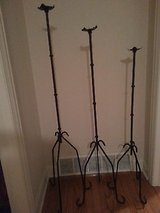 custom craft wrought iron metal 3-piece candle holder floor stand. in Schaumburg, Illinois