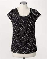 NEW! Sz Large (14)  Coldwater Creek Polka Dot Cowl Blouse in Orland Park, Illinois