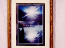 Pic Sunset Over The Wilderness Signed Framed Double Matted Photograph. in Olympia, Washington