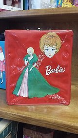 vintage barbie doll red vinyl trunk carrying case - 1963 in Houston, Texas