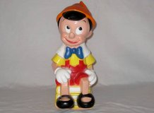 """Pinnochio Children Bank clean cute colorful and bright @11"""" tall in Olympia, Washington"""