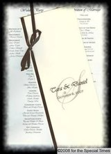 50 wedding program customized 4 pages plus cover! completed for you! your colors in Naperville, Illinois