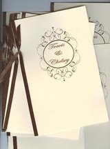 50 wedding programs scrolled frame 4 pages custom 4u choice of fonts, color. in Naperville, Illinois