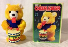 Teddy the Cheer Leader Bear with drum & whistle Doll both work in Olympia, Washington