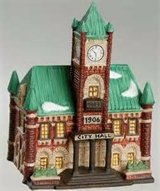 Christmas House Department 56 CIC City Hall in Algonquin, Illinois