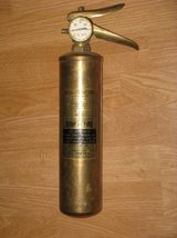 Fire Extinguisher, WWII Era Patent No. in Camp Pendleton, California