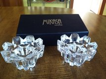 Crystal Candle Holders by Mikasa of Germany in Cherry Point, North Carolina