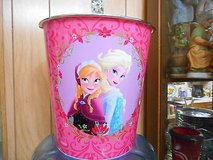 "New Disney ""FROZEN""   Elsa and Anna Large Plastic Wastecan!  Pink   MINT in Houston, Texas"