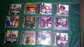 Play station games lot of 12 games in Fort Knox, Kentucky