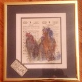 Secretariat, Triple Crown winning horse,Three Patrish water color paintings, in Tinley Park, Illinois