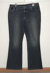 NY New York & Co. Bootcut denim jeans womens sz 14 average 34 w x 31 l in Joliet, Illinois