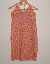 Route 66 orange peach floral halter top sundress womens size 8 in Chicago, Illinois