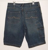 "Pipeline denim jean shorts mens sz 34 with carpenter styling 13"" length urban up in Joliet, Illinois"