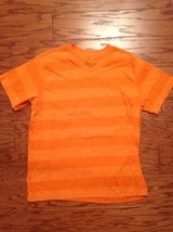 Men's Orange V Neck Striped Shirt - sz L in Camp Lejeune, North Carolina