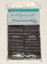Brand New ~ Hollywoods Small Black Snap Around Rollers 18 pieces # 401-18 Hair Curlers in Morris, Illinois