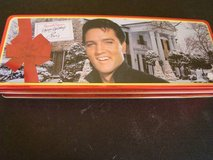 Elvis and Graceland hinged candy tin (empty) in Temecula, California