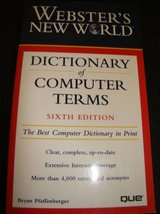 Webster's New World Dictionary of Computer Terms in Camp Pendleton, California