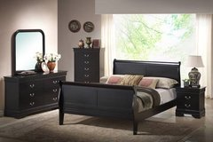 !!!!! NEW BLACK QUEEN LOUIE SLEIGH BED!!!!! in Murfreesboro, Tennessee