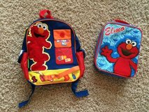 Elmo preschool back pack, lunch box & sandwich container in Houston, Texas