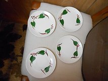 """4 Vintage Blue Ridge """"STANHOME IVY"""" Bread & Butter Plates  6 3/8""""   Made in USA! in Bellaire, Texas"""