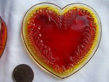 Vintage Boyd Glass Heart trinket box cherry red in Temecula, California