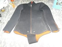 Womens Black Thick Neoprene Scuba Diving Suit Top Size Small ss 364 in Huntington Beach, California