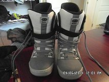 Lamar Universe - Linered Adult Snowboard Boots Size 8 Gray Tan Slightly Used in Huntington Beach, California