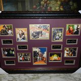 wizard of oz framed poster matted engraved plate signature pictures collage in Los Angeles, California