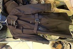 Pre-Owned Military Issued Black Trench Coat W/Liner 42 Small jj 898 in Fort Carson, Colorado
