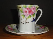 Hand Painted Hummingbird Chocolate Cup Made in Japan in Chicago, Illinois