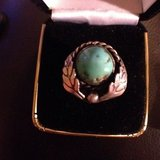 vintage woman's turquoise ring very cool size 7 sterling silver in 29 Palms, California