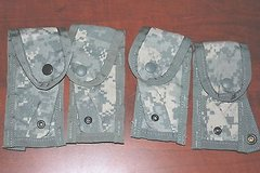 4 US Military Army Digital ACU Molle II 9MM Mag Pouches Singles New jr 461 in Huntington Beach, California