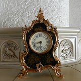 french style louis xvi rococo vintage shelf mantel bronze cartel clock in Los Angeles, California