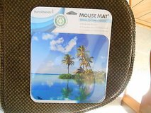 New HAND STANDS Deluxe Mouse Mat / Pad!Tropical Beach Scene  MINT in Houston, Texas