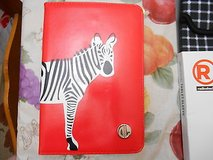New Dabney Lee Zebra Folio Mini iPad Case-  RED w/Zebra Picture!  Cute!! in Houston, Texas