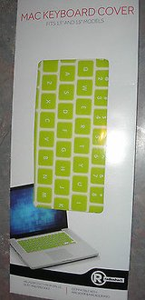 "radioshack silicone keyboard cover for 13"" & 15"" macbook and macbook pro green in Camp Lejeune, North Carolina"