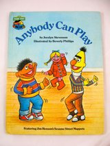 "Vintage 1980 Sesame Street Book Club ""Anybody Can Play"" Hard Cover Book. in Joliet, Illinois"