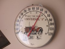Vintage Universal ''J'' Tractor Thermometer At Twice As Nice Flea Market Booth # 605 in Cherry Point, North Carolina