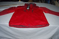 NWTS Zeroxposur Hard Shell Performance Jacket Inferno Red Water Resistant 1021 in Huntington Beach, California